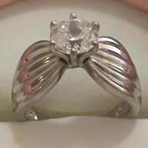 QVC Diamonique ring size 6